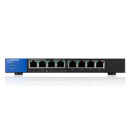 Linksys LGS108P 8-Port Desktop Gigabit PoE Switch