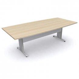 โต๊ะประชุมทรงเรือขาเหล็ก