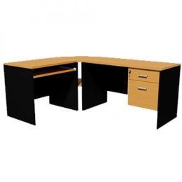 ชุดโต๊ะทำงานไม้ พร้อมตัวต่อมุม