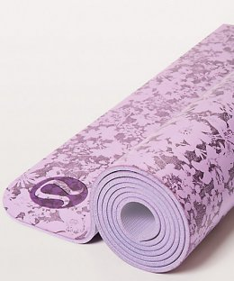 เสื่อโยคะ Lululemon - The Reversible Mat 5mm : Efflorescent Violetta Smoked Mulberry/Violetta