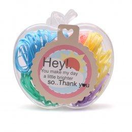 ยางรัดผมสีพาสเทล Pastel Ponyband - Apple Box