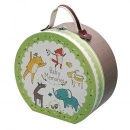 Gifthing กล่องเก็บความทรงจำทรงกระเป๋า Forest Friends Round Hamper