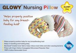 Glowy Star Nursing Pillow หมอนให้นม หมอนรองให้นม ***ราคาปกติ 1,140 มีค่าส่งเพิ่ม 200 บาท โดยค่าส่งได้รวมกับราคาข้างล่างแล้ว***