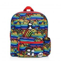 Zip & Zoe กระเป๋าเป้ไปโรงเรียนสำหรับเด็ก ลาย Rainbow Multi