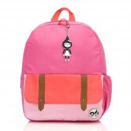 Zip & Zoe กระเป๋าเป้สำหรับเด็ก ลาย Hot Pink Colour Block
