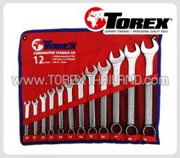 TOREX ประแจแหวนข้างปากตายชุด 12 ตัว ขนาด 10 - 32 มม.