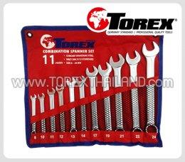 TOREX ประแจแหวนข้างปากตายชุด 11 ตัว ขนาด 8 - 24 มม.