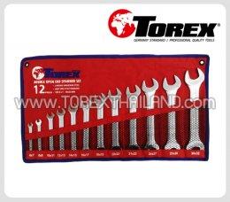 TOREX ประแจปากตายชุด 12 ตัว ขนาด 6 x 7 - 27 x 32 มม.