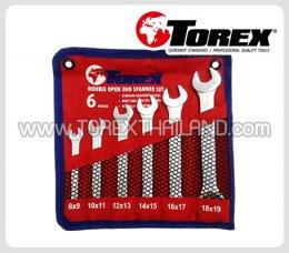 TOREX ประแจปากตายชุด 6 ตัว ขนาด 8 x 9 - 18 x 19 มม.