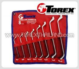 TOREX ประแจแหวนชุด 8 ตัว ขนาด 6 x 7 - 20 x 22 มม.