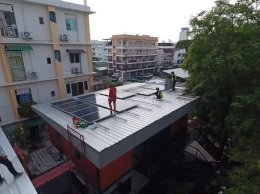 งานติดตั้ง Solar Cell