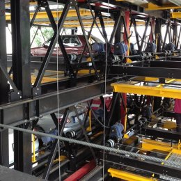 4 years of use and maintenance Automated parking garage G-07 GPP Puzzle Parking 100 units, the first building in Thailand Paolo Memorial Hospital Chokchai 4