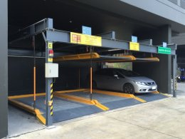 Installation automatic parking  At Than Living  Pracha Uthit