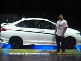 Honda City All New 2014  สีขาวแต่งหล่อกับดียูช้อป