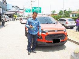 Ford Ecosport สีส้มแต่งสวยกับดียูช้อป