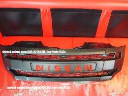 กระจังหน้าดำด้านมีไฟตรงรุ่น Nissan Navara All New NP300