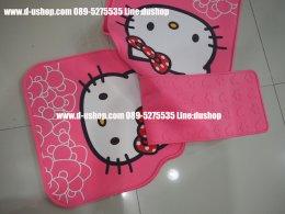 ผ้ายางปูพื้นลาย Hello Kitty สีชมพูหวานสำหรับรถทุกรุ่น