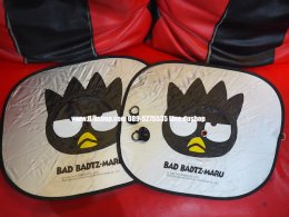 ม่านบังแดดข้างประตูลายการ์ตูน Bad Badtz Maru แบ๊ดแบ๊ดซ์ มารุ แพ็คคู่สำหรับรถทุกรุ่น