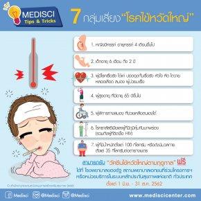 7 กลุ่มเสี่ยงโรคไข้หวัดใหญ่