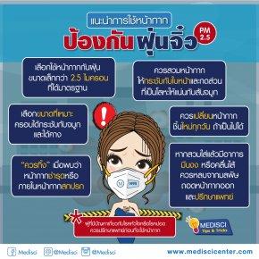 แนะนำการใช้หน้ากากป้องกันฝุ่นจิ๋ว PM2.5