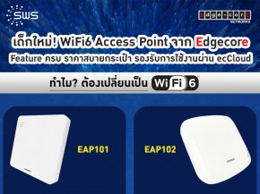 WiFi6 Access Point from Edgecore, ecCloud ready