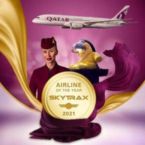 """สายการบินกาตาร์ แอร์เวย์ส คว้ารางวัล """"สายการบินแห่งปี"""" โดยสกายแทร็กซ์เป็นครั้งที่ 6 และยังคว้าอีก 5 รางวัล"""