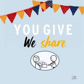 You give We share กิจกรรมมอบรอยยิ้มแก่น้องๆที่มูลนิธิของขวัญแห่งความสุข