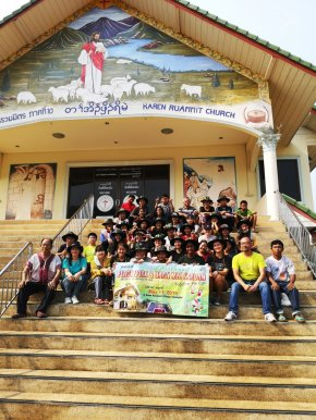 Social Work of Painting and Cleaning at Baan Ruammit Village