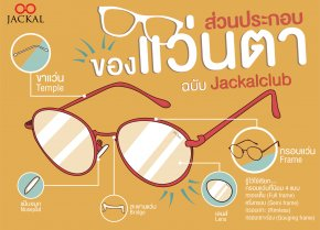 'รู้ไว้ ใช้เรียก' ส่วนประกอบของแว่นตา ฉบับ ร้านแว่นตา Jackalclub เชียงใหม่