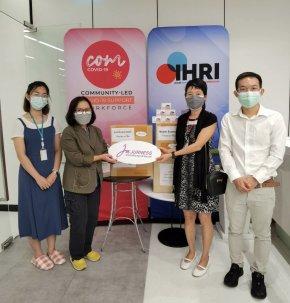 บริจาคเครื่องออกซิเจนปลายนิ้วและผลิตภัณฑ์เจอเนสให้มูลนิธิ IHRI