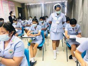 สอบมาตรฐานฝีมือแรงงานแห่งชาติ ภาคความรู้ สาขาการดูแลผู้สูงอายุ ระดับ1 ให้แก่ นักเรียนรุ่น 38 และนักเรียนรุ่นออนไลน์ 38.1