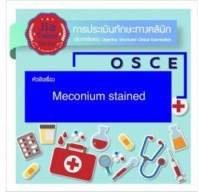 Osce-Meconium Stained