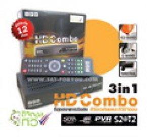 กล่องรับสัญญาณดิจิตอลทีวีและสัญญาณดาวเทียม IPM HD Combo 3in1 เอชดี คอมโบ