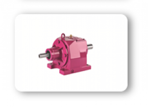 MT Series : Helical geared units with solid input shaft, foot mounted