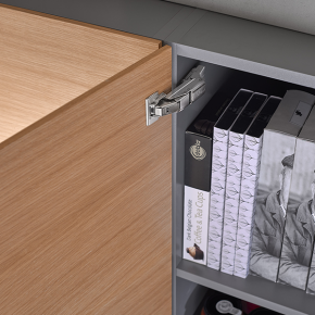 CLIP top BLUMOTION for thin doors: The special new hinge with integrated dampening