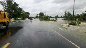 แขวงทางหลวงร้อยเอ็ด หมวดทางหลวงเกษตรวิสัย รายงานสถานการณ์น้ำท่วมสายทาง วันที่ 29  กรกฏาคม 2560