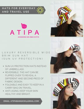 ATIPA WIDE BRIM HATS.