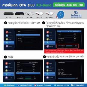 การอัพเดท OTA ระบบ KU-Band กล่องรุ่น AEC และ HD