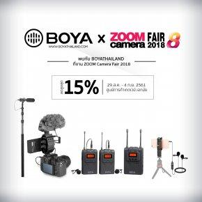 พบกับ BOYA Thailand ในงาน ZoomCamera Fair 8