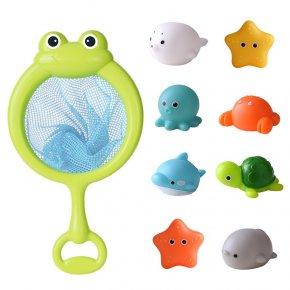 ชุดของเล่นตาข่าย + ของเล่นน้ำ มีไฟ 6 ตัว