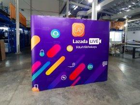 LAZADA สร้างสีสัน ความโดดเด่น เรียกลูกค้าด้วย Backdrop
