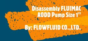 Disassembly FLUIMAC Air Operated Double Diaphragm Pump (AODD PUMP) _P160P