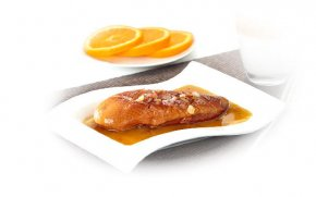 Smoked duck breast with orange sauce