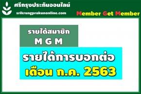 ค่าสายงาน+แนะนำ ตั้งแต่1-31 ก.ค. 2563