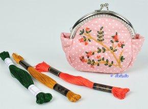 กระเป๋าปิ๊กแป๊กดอกไม้