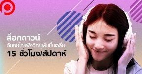 """ล็อกดาวน์ดันคนไทย """"ฟังวิทยุ"""" เพิ่มขึ้นเฉลี่ย 15 ชั่วโมง/สัปดาห์ เพลงไทย-ลูกทุ่งยังฮิตสุด"""
