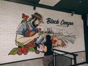 """Black Canyon"" Wall Painting"