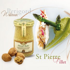 St. Pierre Fillet, Asparagus with Edmond Fallot Walnut Dijon Mustard