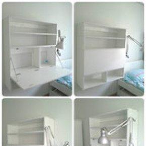 DIY ออกแบบเอง ตกแต่งเอง ใช้เอง  โต๊ะ 2 in 1 สำหรับห้องขนาดเล็ก