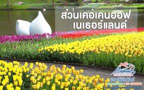 """เช็คความพร้อม เที่ยวทัวร์ยุโรปชมสวนทิวลิปที่ใหญ่ระดับโลก 2020 """"สวนเคอเคนฮอฟ"""" Keukenhof"""